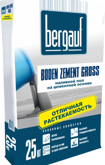 Boden Zement Gross, 25кг вправо